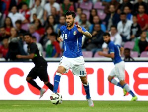 GENEVA, SWITZERLAND - JUNE 16:  Roberto Soriano of Italy in action during the international friendly match between Portugal and Italy at Stade de Geneve on June 16, 2015 in Geneva, Switzerland.  (Photo by Claudio Villa/Getty Images)