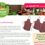 La gazette n°13 octobre 2015