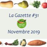 Le 1er Novembre 2019 : La Gazette N°31 – Novembre 2019