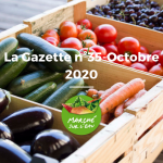 Le 1 octobre 2020 : La Gazette n°35 – OCTOBRE 2020