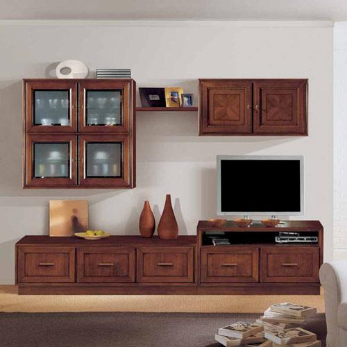 Homcom mobile porta tv classico in legno con vano salotto e soggiorno 90 × 35 × 37cm. Soggiorno Componibile In Legno Prodotti Marchetti Mobili