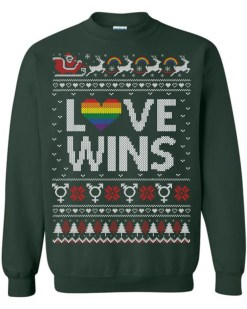 Love Wins LGBT Ugly Christmas Sweater