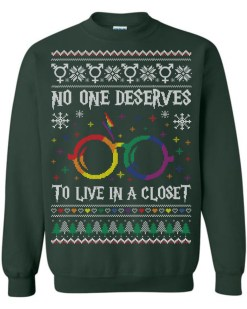 No One Deserves To Live In A Closet Ugly Christmas Sweater