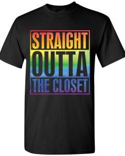 Straight Outta The Closet LGBTQ+ Unisex T-Shirt