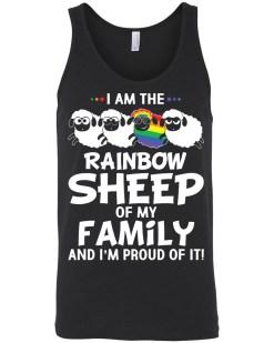 I'm A Rainbow Sheep Of My Family Canvas Unisex Tank