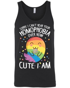 Can't Hear Your Homophobia Canvas Unisex Tank