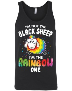 I'm Not The Black Sheep Canvas Unisex Tank