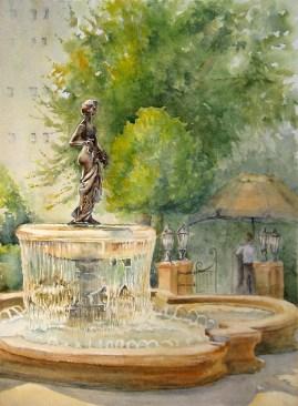 "Pomona Plaza, 15″ x 11 "" Watercolor"