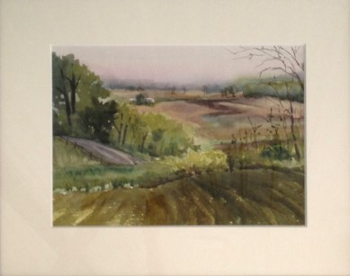 Missouri Bottoms, Second Place, Watercolor, 2016 Augusta Plein Air Festival