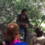 Chris making an arrow