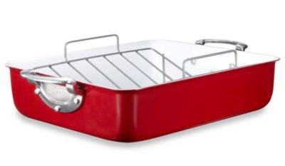 red roasting pan