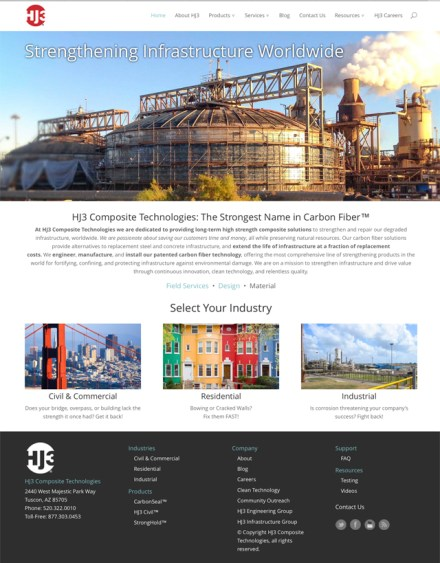 home page design, website design