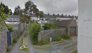 photo of site before any work on new mews house started