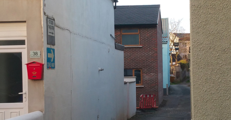 view on newly built mews house at the back of Central Avenue in Bangor, Northern Ireland