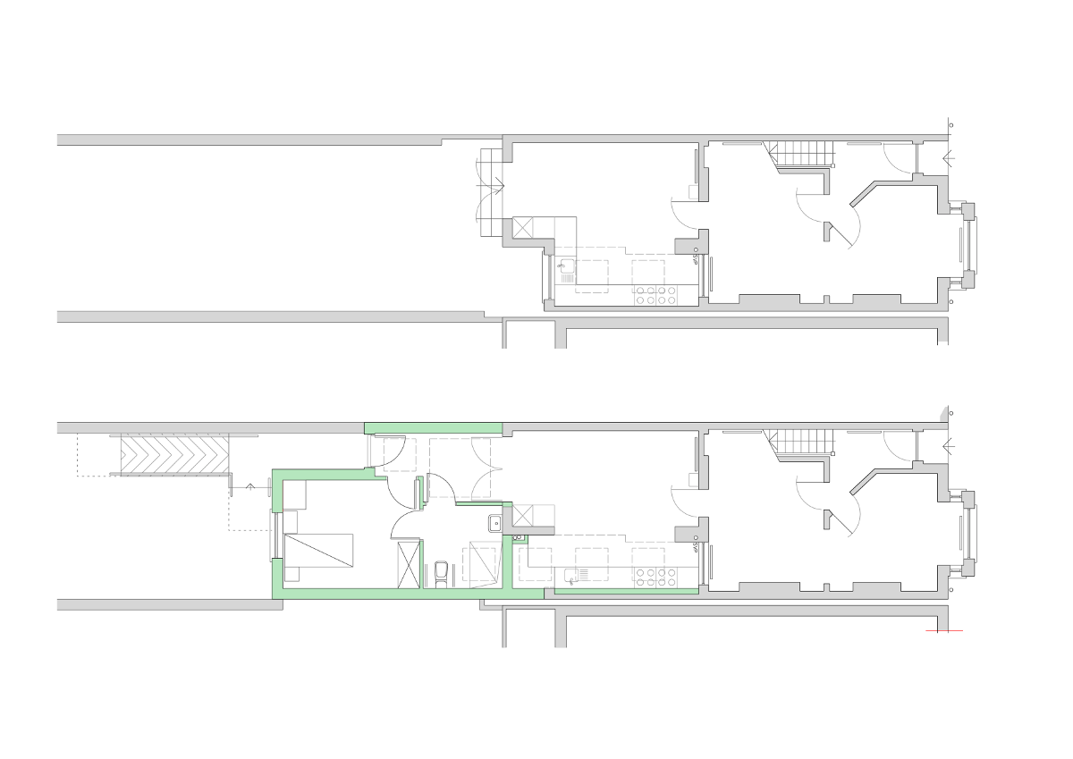 terraced house extension to accommodate wheelchair-bound person in Holywood NI