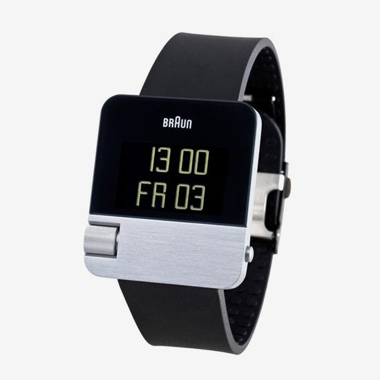 Prestige horloge met zwart rubberen band.