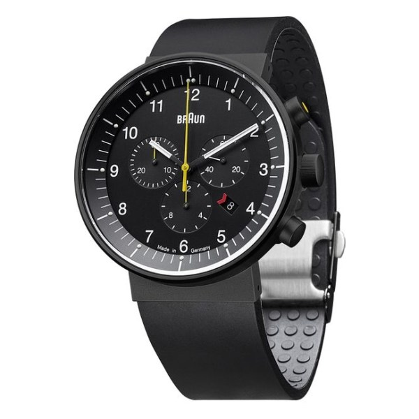 Prestige Watch analoog, zwart staal met rubberen band