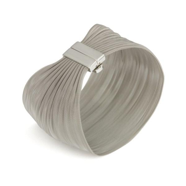 Edelstalen gaasarmband ´Sheet´, brede uitvoering