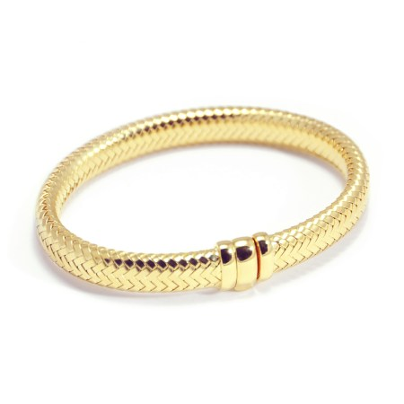 Armband ´Simplicity rules´ in geel verguld zilver