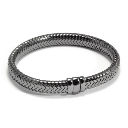 Armband ´Simplicity rules´, zilver met ruthenium coating