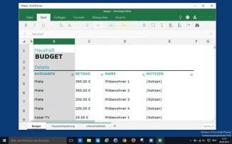 Windows 10, Office/Excel Preview
