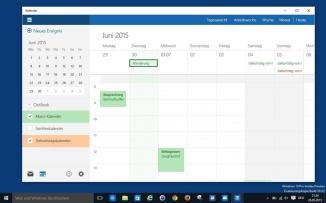 Windows 10, Kalender-Preview
