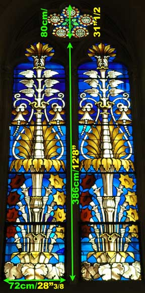 Stained Glass Windows With Floral Designs Religious