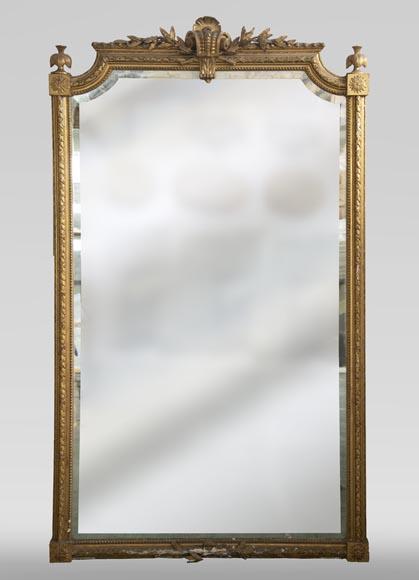 trumeau ancien dore de style napoleon