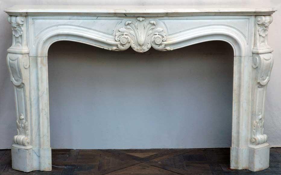 cheminee louis xv en marbre blanc marbre