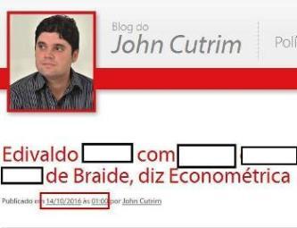 John Cutrim desrespeitou a Justiça Eleitoral e publicou pesquisa proibida