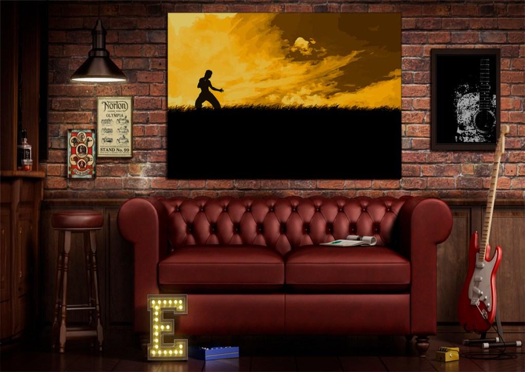 Bruce Lee dragon drago brucelee cina fury yellow karate kung fu kungfu vector art adobe graphic