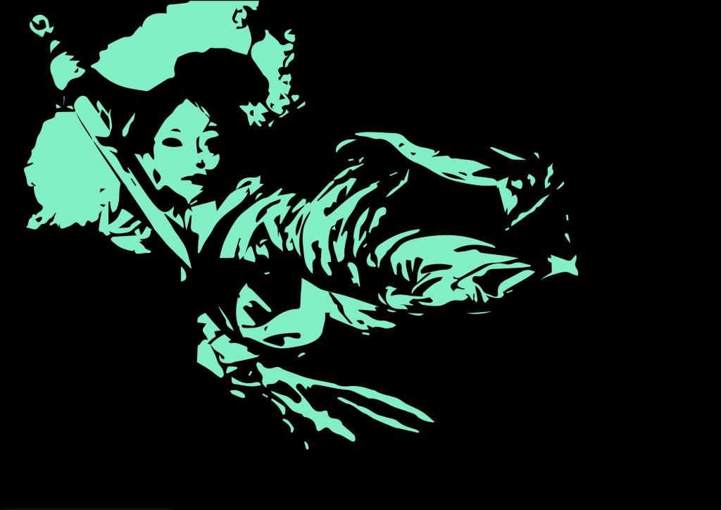 graphic design japan geisha colors vector art adobe graphic