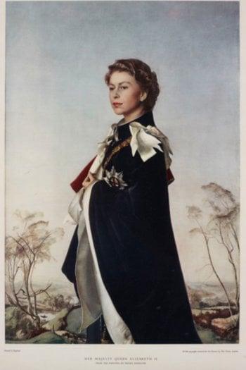 """Pietro Annigoni """"Regina reggente"""", 1955"""