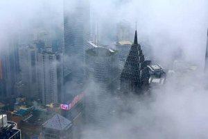 Chongqing foggy sky