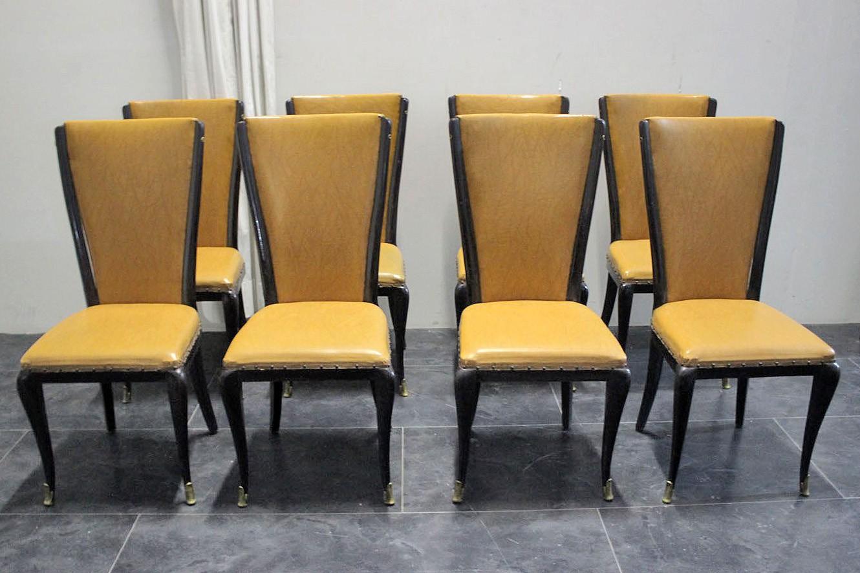 Sedie anni 50 mobili, vintage, design, arredamento d'interni, case. Sedie Da Sala Anni 50 In Stile Jannace Kovacs Marco Polo Antiques Online