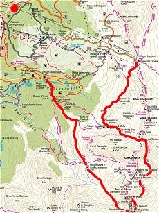 Percorso escursione sulle dolomiti del Brenta