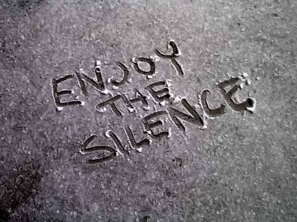 Il silenzio…