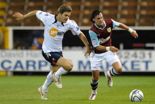 Marcos in action versus Burnley | Photograph courtesy of BWFC