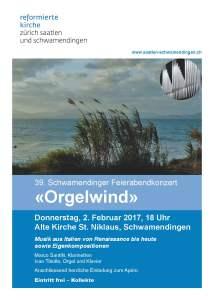 Orgelwind concert