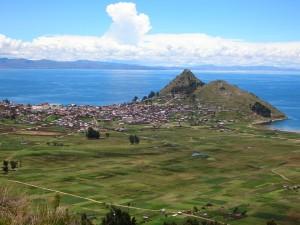 Lake Titicaca region in Bolivia