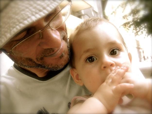 Marcos López und Tochter Evi