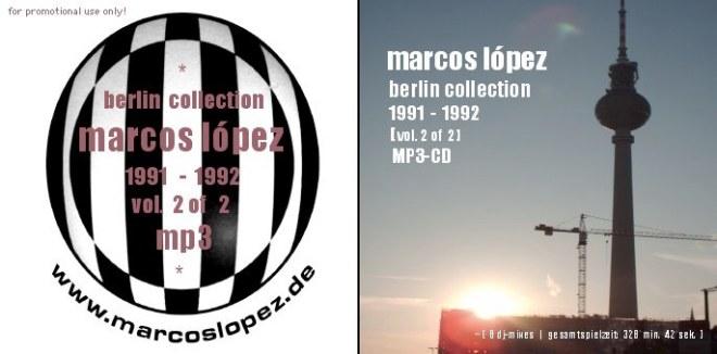 Das Cover der MP3-CD der Berlin Collection 1991 - 1992 Volume 2, ebenfalls mit 8 Mixes aus der Zeit von Oktober 1991 bis Mai 1992