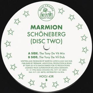Label der Maxi-Single Schoeneberg 1996 Disc Two