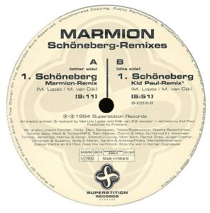 Das Label der Maxi-Single vom Schoeneberg-Remix 1994