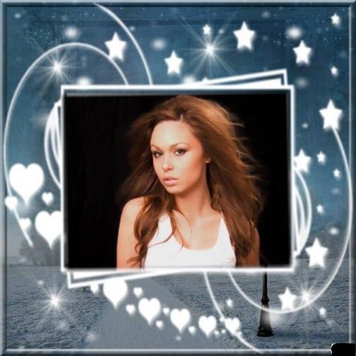 marco de estrellas y corazones