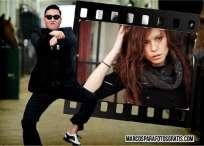 Marco de PSY Gangnam Style para fotos