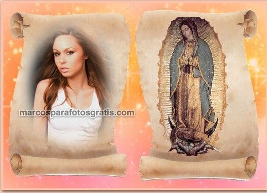 marcos de fotos con la virgen de guadalupe