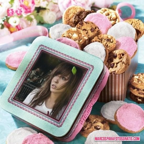 marco para fotos con galletas de colores