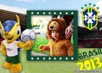 Marco de fotos con la mascota del mundial Brasil 2014