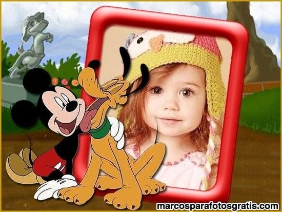 marcos de fotos con mickey y pluto